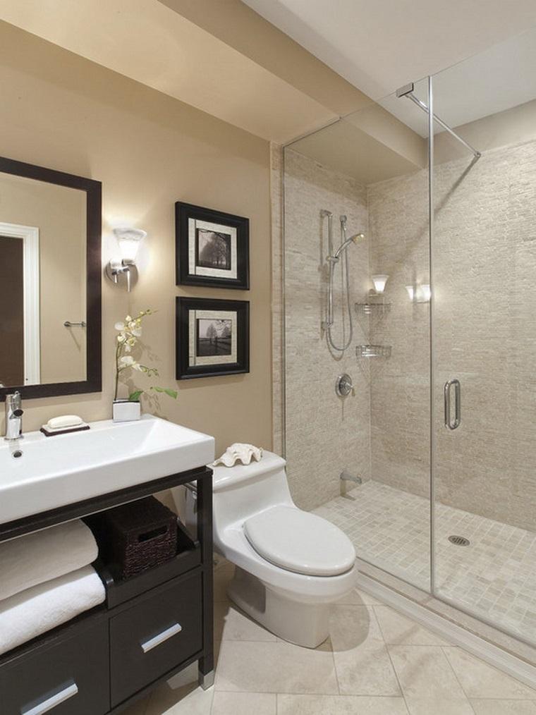 bagni moderni piccoli soluzione doccia