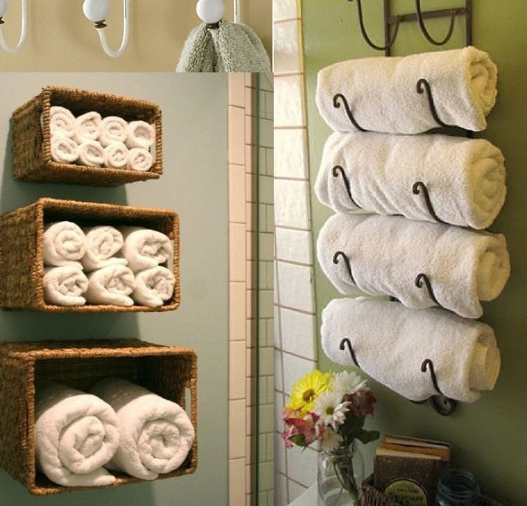 bagni moderni piccoli soluzione stoccaggio