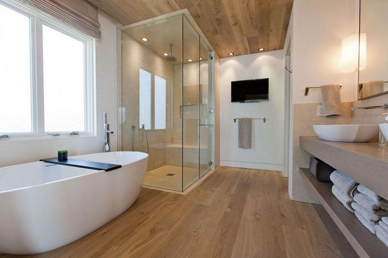 bagni moderni suggerimento particolare pavimento legno