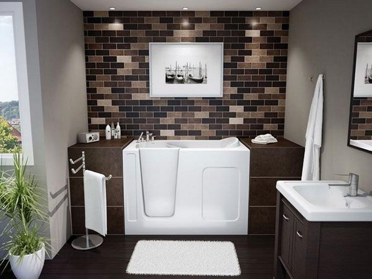 bagni piccoli moderni vasca ingresso facilitato