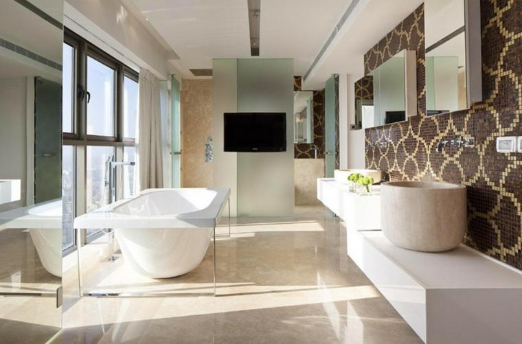 bagno con mosaico proposta originale moderna