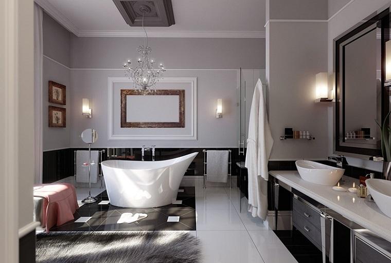 bagno elegante raffinato arredato mobili design