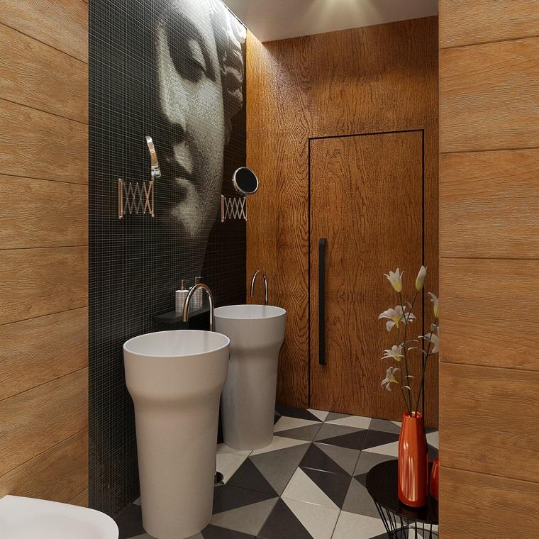 bagno moderno inserti legno sanitari originali