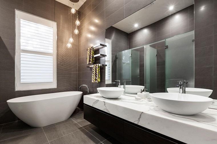 bagno moderno mobile sospeso vasca originale