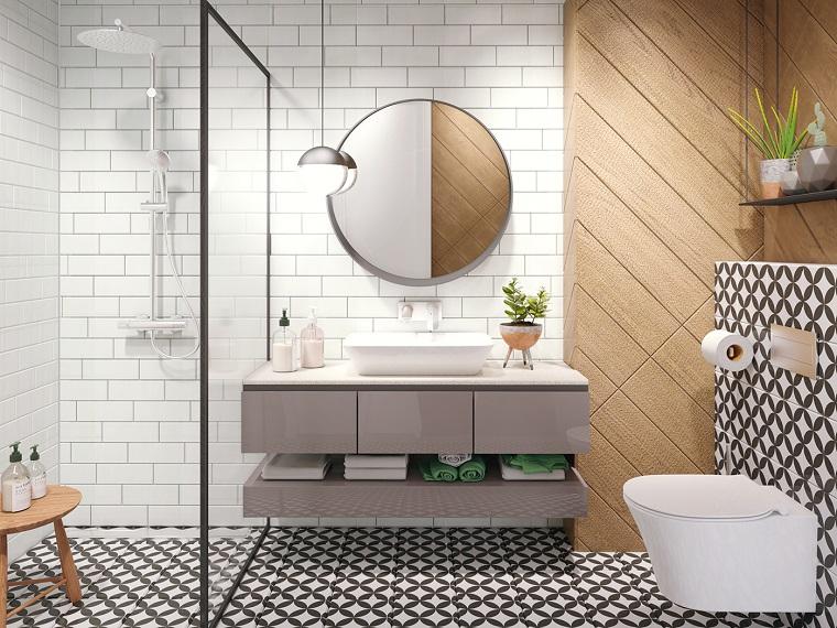 Bagno moderno 100 idee e soluzioni di design per un - Mobiletto con specchio per bagno ...