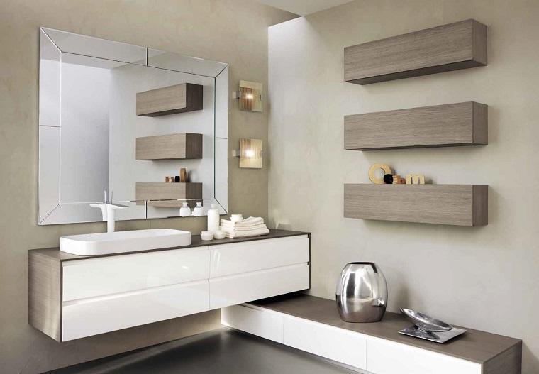 Bagno moderno 100 idee e soluzioni di design per un - Bagno grigio e bianco ...