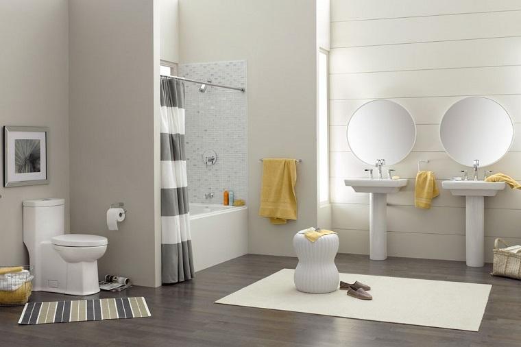bagno moderno molto semplice elegante chic