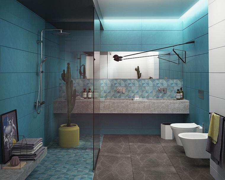 Bagno moderno 100 idee e soluzioni di design per un ambiente confortevole - Bagno di colore ...