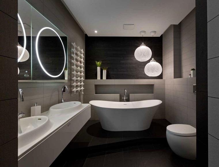 Bagno moderno 100 idee e soluzioni di design per un ambiente confortevole - Bagno di colore prezzo ...