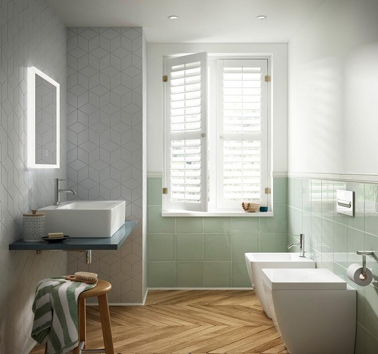 Bagno moderno 100 idee e soluzioni di design per un ambiente confortevole - Pavimento bagno moderno ...