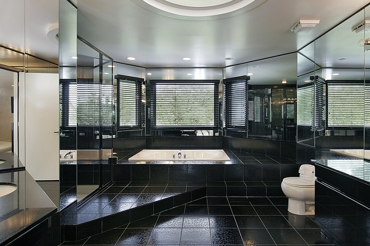 bagno moderno pavimento piastrelle