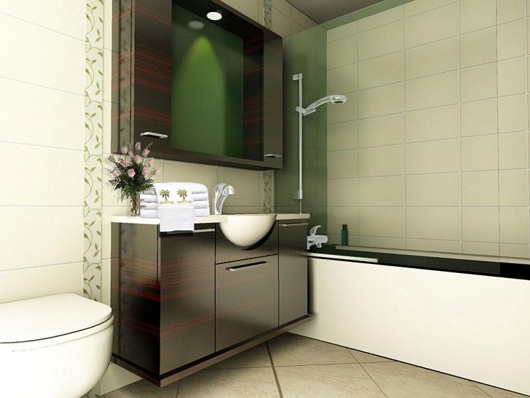 bagno moderno piccolo proposta luminosa