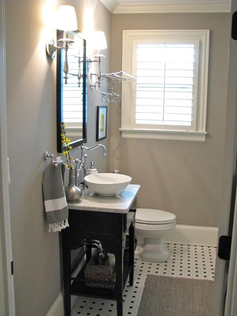 bagno moderno piccolo vanity nero