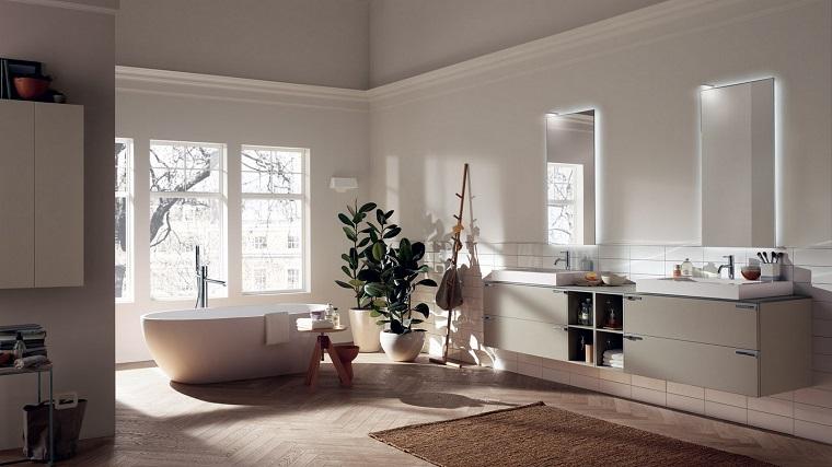 bagno moderno vasca forma arrotondata