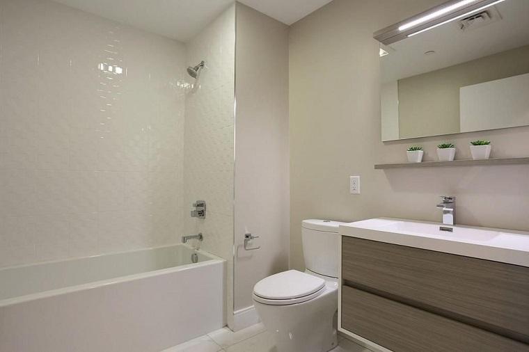 Bagno moderno 100 idee e soluzioni di design per un ambiente confortevole - Bagno di colore grigio capelli ...