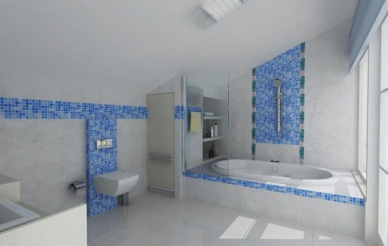 bagno mosaico colori freschi vivaci particolari