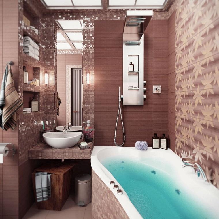 bagno piccolo moderno vasca idromassaggio