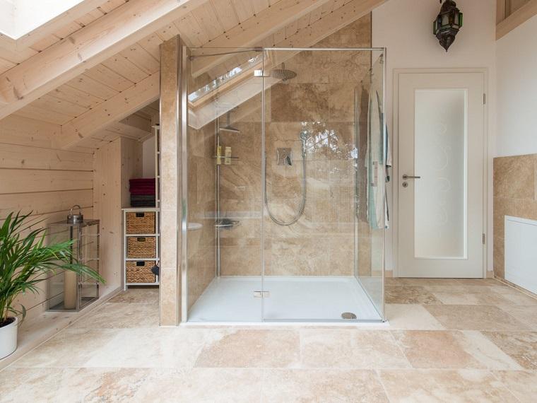 bagno rustico moderno box doccia