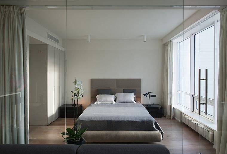 camera da letto arredata stile contemporaneo