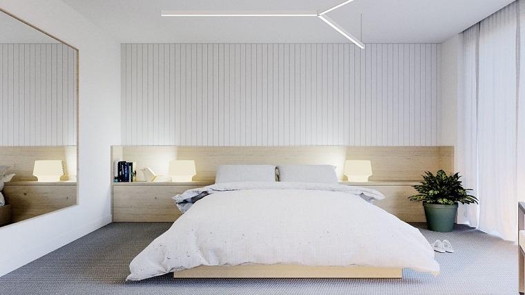 camera da letto arredata stile minimal idea originale
