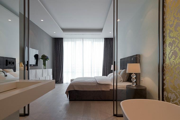 camera da letto bagno padronale design moderno