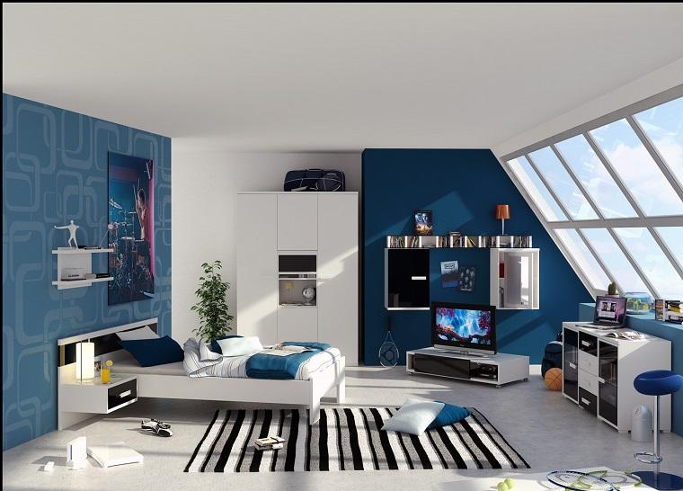 camera ragazzo-arredamento-stile-moderno