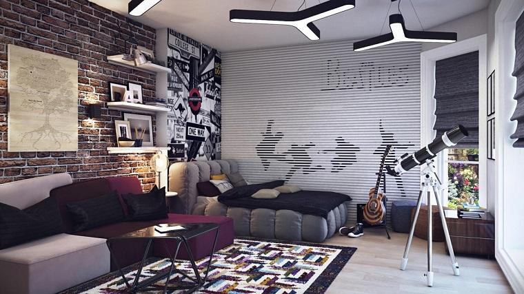 camera ragazzo-arredata-stile-industriale