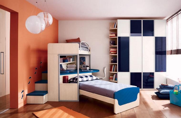 camera ragazzo-due-letti-design-originale