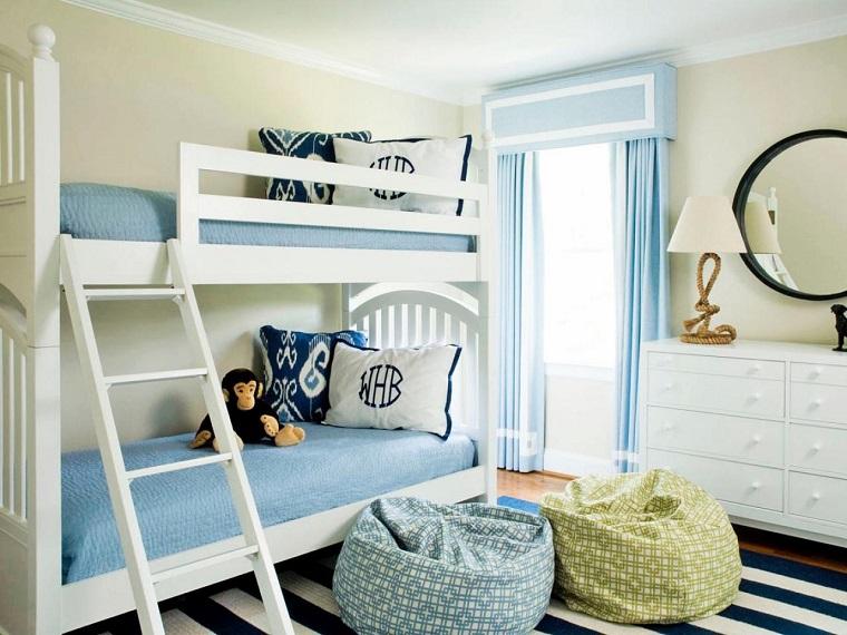 camera ragazzo-letto-castello-colore-bianco