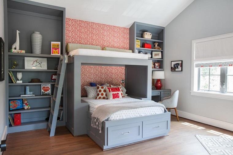 camera ragazzo-letto-castello-colore-grigio
