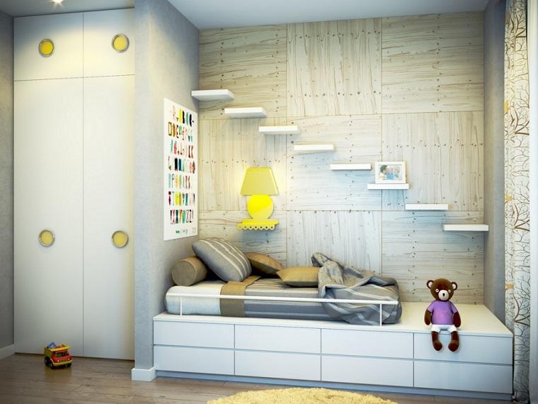 camera ragazzo-mobili-bianchi-piccole-mensole
