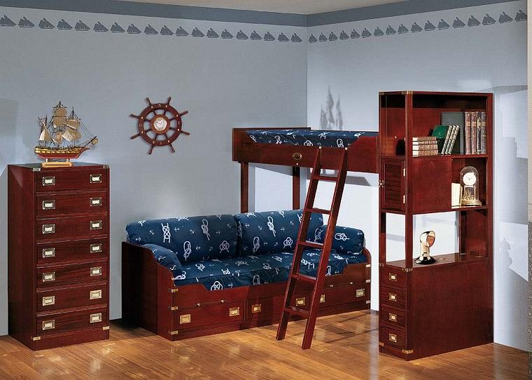 camera ragazzo-stile-classico-mobili-legno