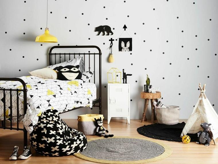Parete A Pois Fai Da Te : Colori pareti camerette tonalità idee e accostamenti di tendenza