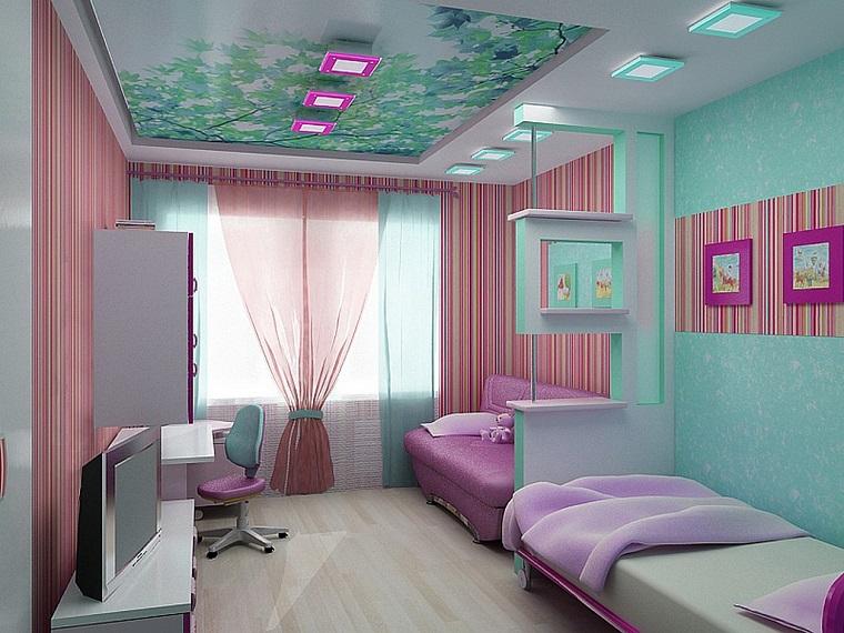 cameretta moderna progettata tante decorazioni soffitto