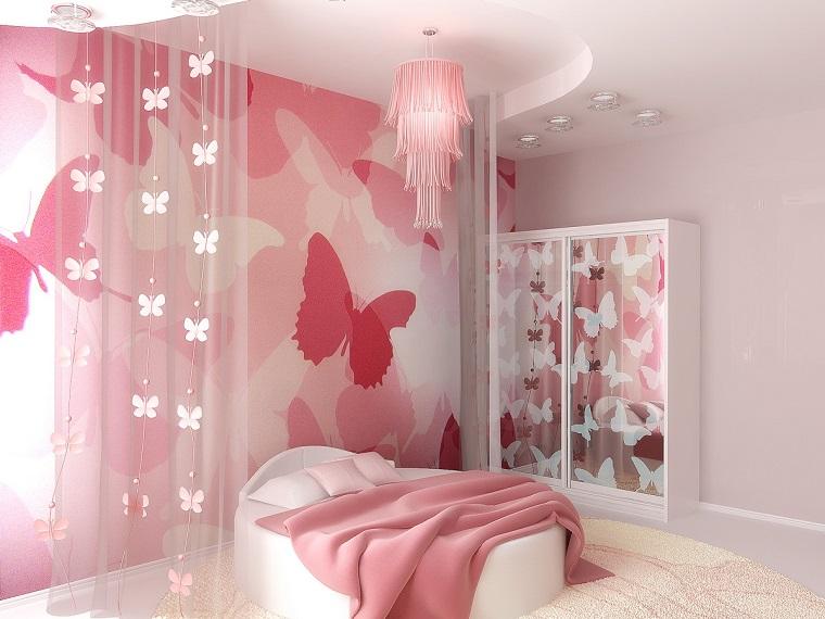 camerette per ragazze moderne idea rosa