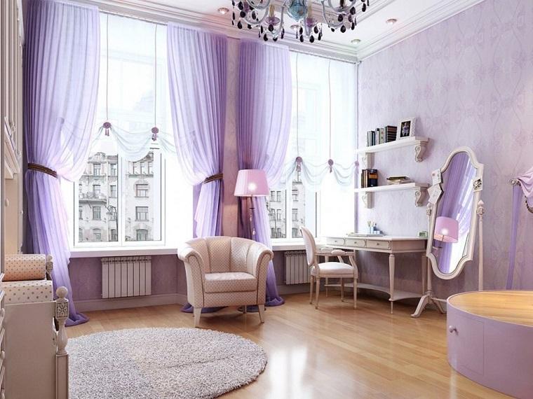 camerette per ragazze moderne soluzione moderna pareti viola