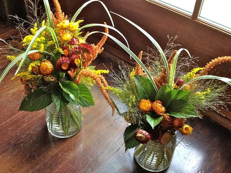 centrotavola autunnale fiori colorati
