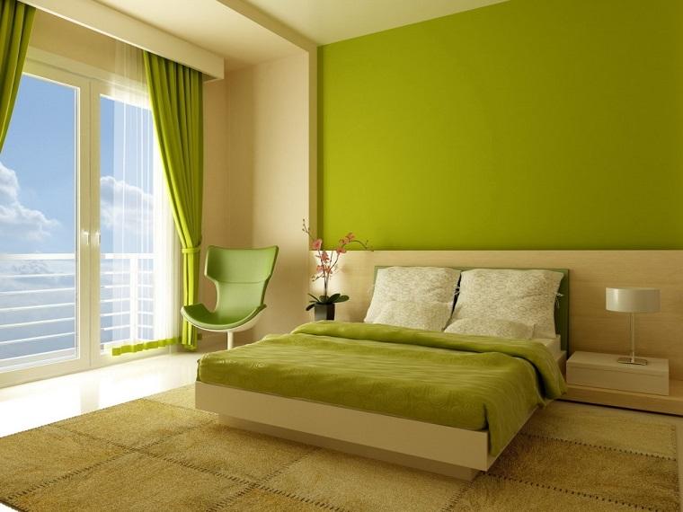 colori pantone camera letto verde