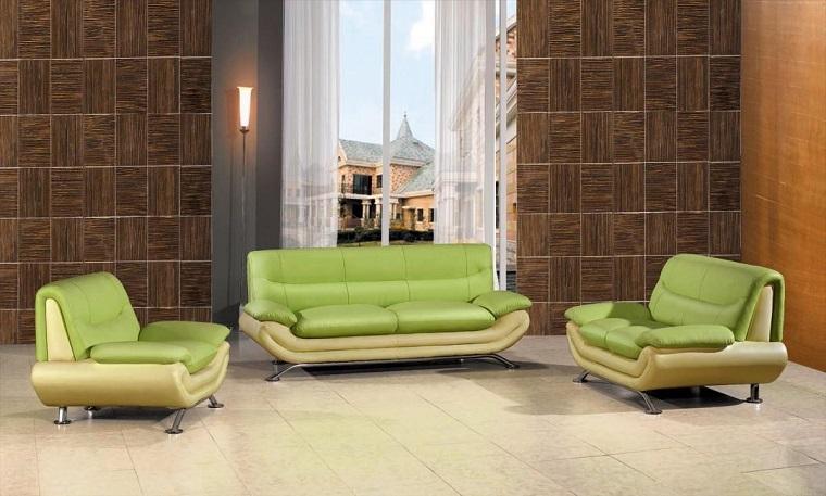 colori pantone divani pelle verdi