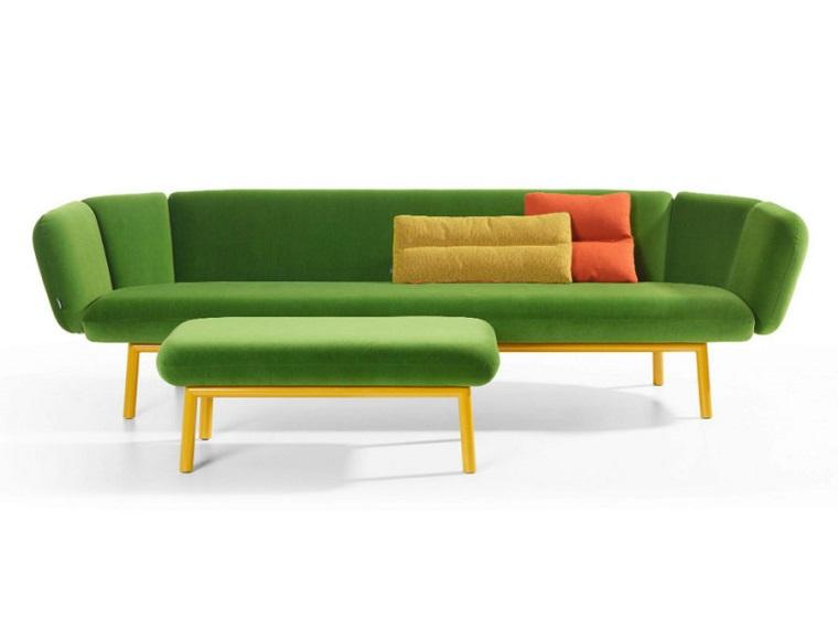 colori pantone divano puff verdi