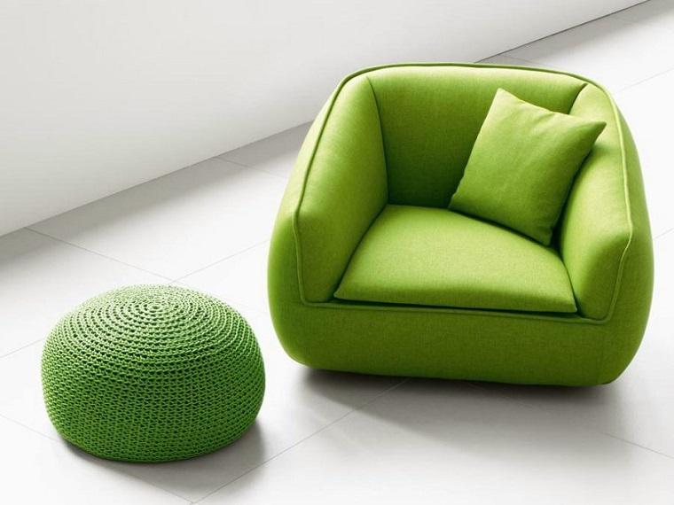 colori pantone poltrona pouf verdi
