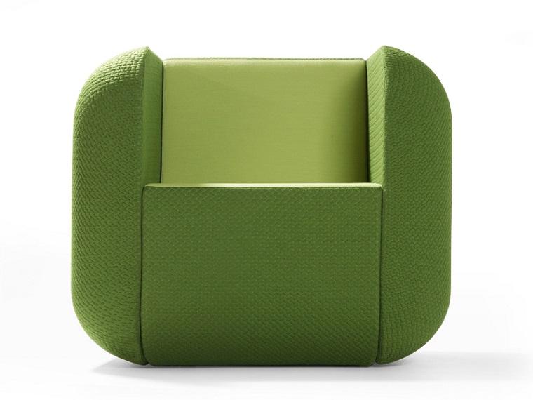 colori pantone poltrona verde design originale