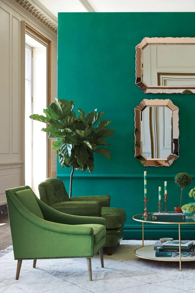 colori pantone poltrone design verdi