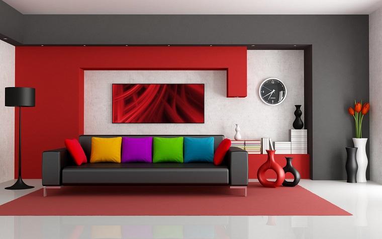 colori parete soggiorno combinazione audace