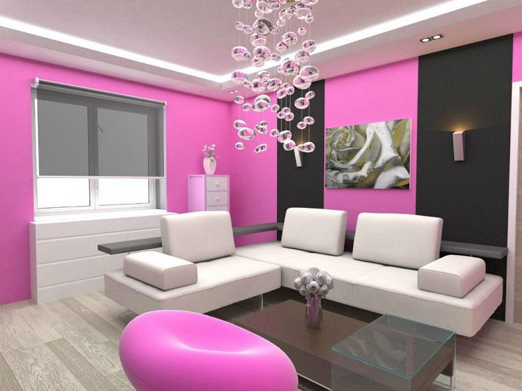 colori parete soggiorno soluzione tonalita rosa