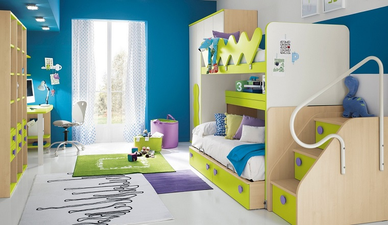Cameretta Bianca E Blu : Colori pareti camerette: tonalità idee e accostamenti di tendenza