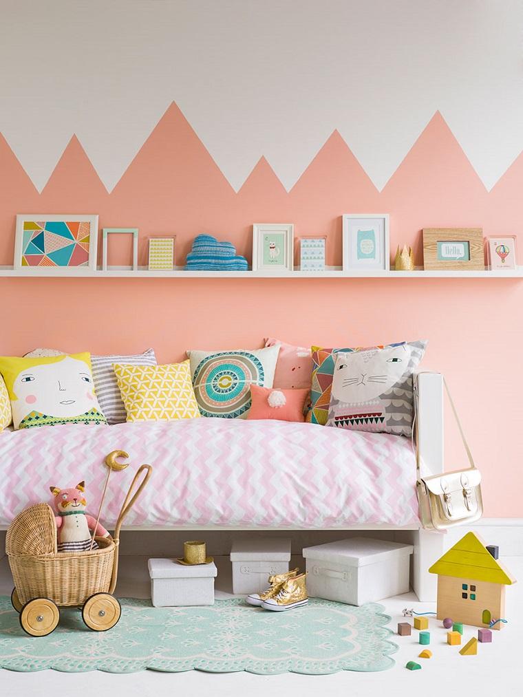 colori pareti camerette idea originale femminucce