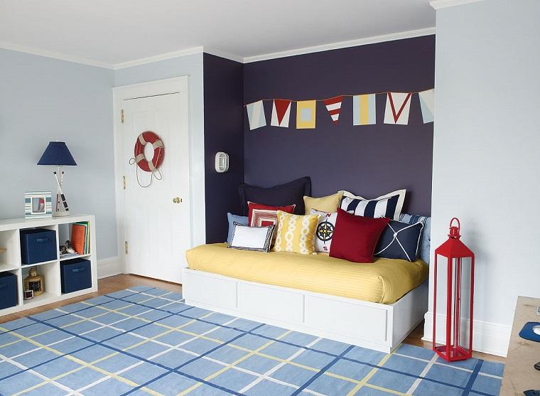 colori pareti camerette idea quella maschietti marino