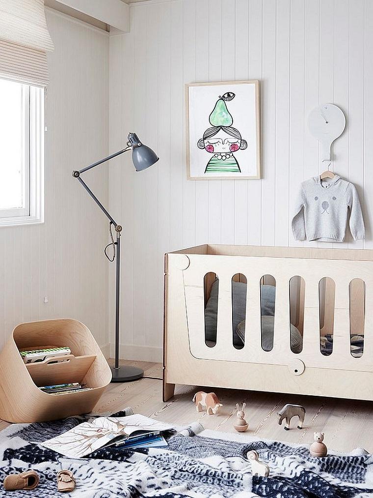 colori pareti camerette idea tonalita colore chiaro lettino