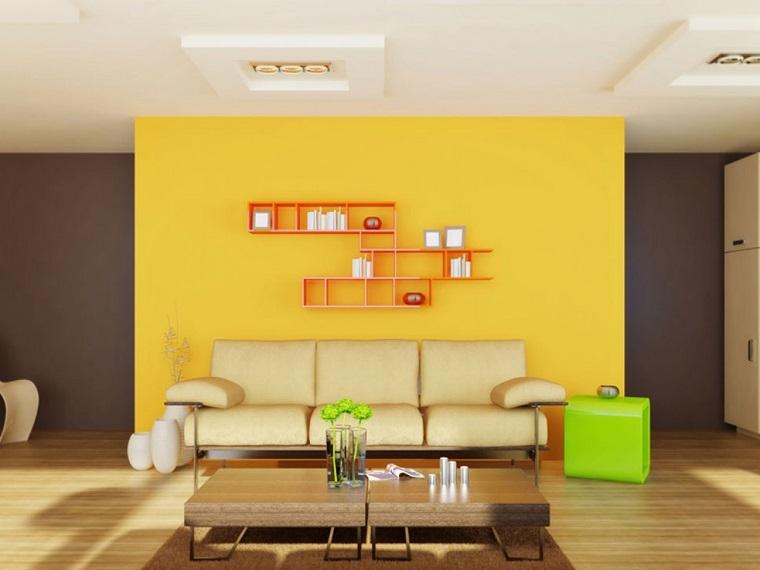 colori pareti soggiorno giallo brillante